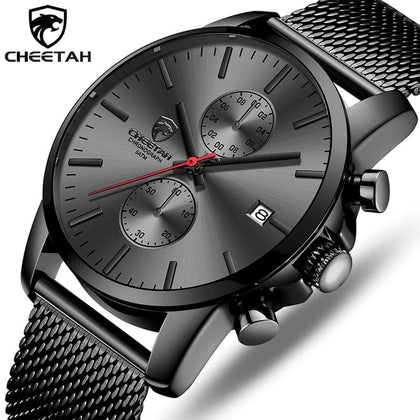 Top Luxury Brand Men Business Watches Chronograph Waterproof Quartz Analog Wristwatch Full Steel Male Clock Relogio Masculino - Go Buy Dubai