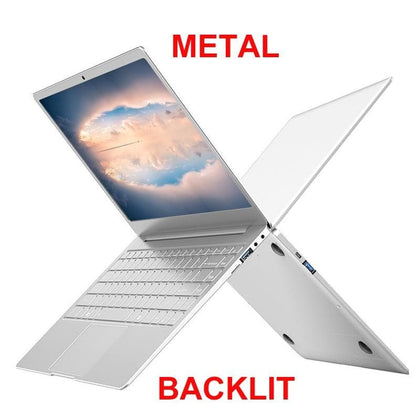 Metal Body 13.3/14 inch With Backlit Keyboard Gaming Laptop 8G RAM 1TB 512G 256G 128G M.2 SSD Notebook Computer IPS FHD Netbook - Go Buy Dubai