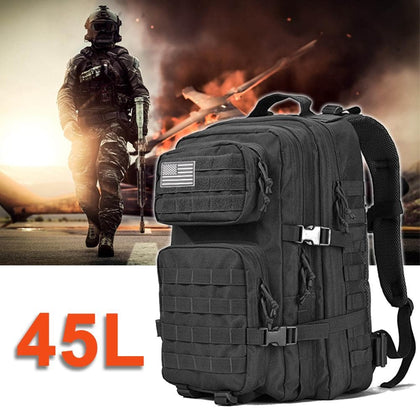 Military Tactical Waterproof Army Backpack Men Male 3P Assault Attack Bag 45L Large Outdoor Travel Back Pack Mountaineering Bags - Go Buy Dubai