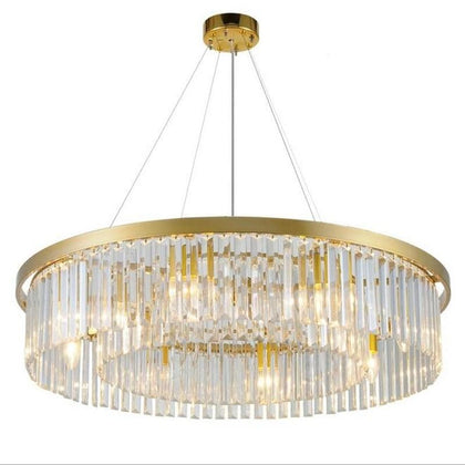 crystal living room round chandelier European creative personality room hall of the  simple atmospheric restaurant chandelier - Go Buy Dubai