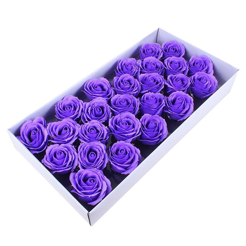 25Pcs/Box Big Size Bath Soap Rose Flower Plant Essential Oil Soap Romantic Wedding Party Gift Handmade Petals Decor