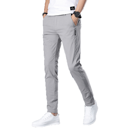 Brand Men Pants Casual Mens Business Male Trousers Classics Mid weight Straight Full Length Fashion breathing Pant 28-38 - Go Buy Dubai