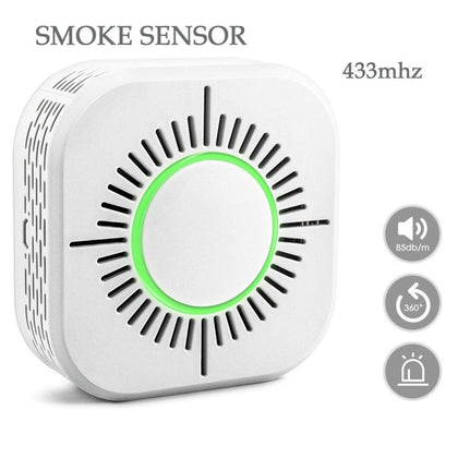 Smart Smoke Detector Wireless Fire Security Alarm. Protection Alarm Sensor System - Go Buy Dubai