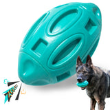 EASTBLUE Squeaky Dog Toys for Aggressive Chewers (teal)