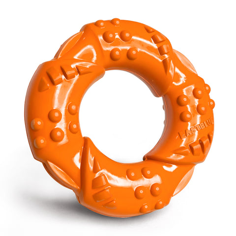 EASTBLUE Tornado-Dog Chew Toy for Aggressive Chewers (Orange)