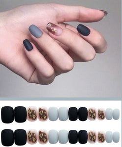 24pcs Fake Nails Set False Nail Full Cover Artificial Acrylic Nails