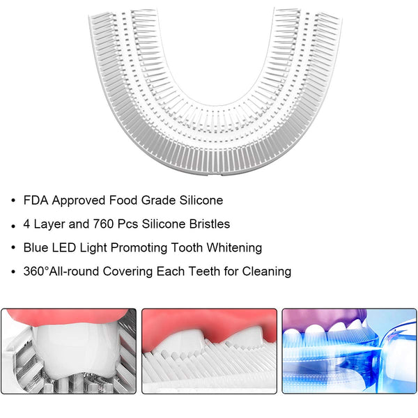 Kids Electric Toothbrushes Toddler Sonic Toothbrush With Sensitive U-shape Brush Head, Ecommended For Kids 2-6 Years Old