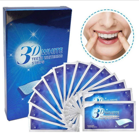 14pcs/box 3D Teeth Whitening Strips Teeth Dental Whitening Cleaning Double Elastic Gel Strips Dental Whitening Tools
