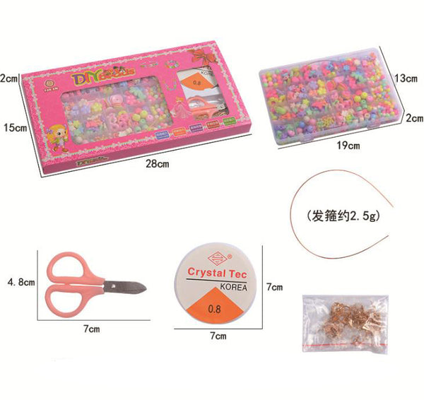 800+ pieces Pop Beads DIY Jewelry Making Kit for Toddlers Girls Kids,Age 4 5 6 7 8, Birthday Gift