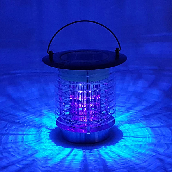 Mosquitoes Trap Lamp Killer Bug Zapper Lantern Solar&Battery Powered Waterproof Outdoor Garden Use