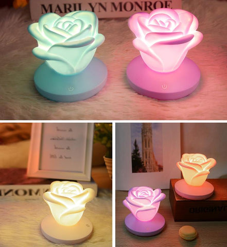 Romantic Rose LED Lamp Night Light Mini Night Desk Table Lamp Home/Bedroom Decor, Perfect Gift for Holiday/Birthday