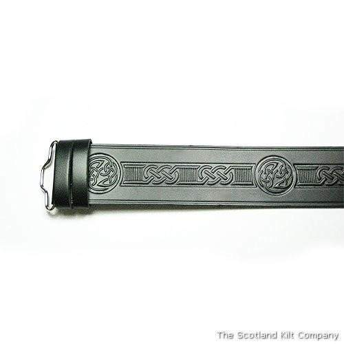 Celtic Swirl Hide Embossed Belt