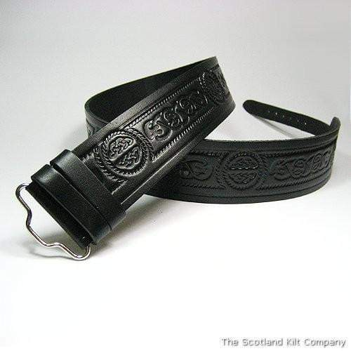 Celtic Serpent Embossed Kilt Belt