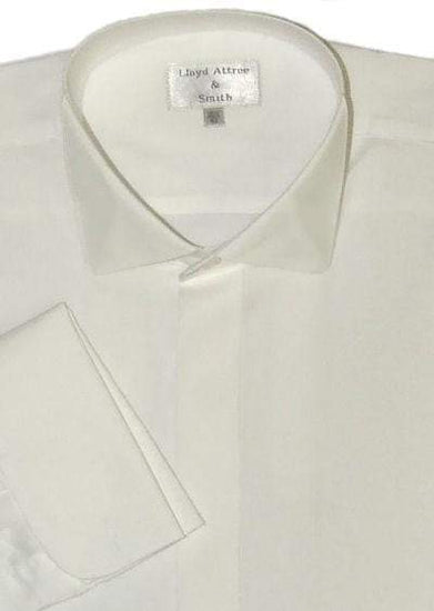 Victorian Wing Collar Dress Shirt - Ivory