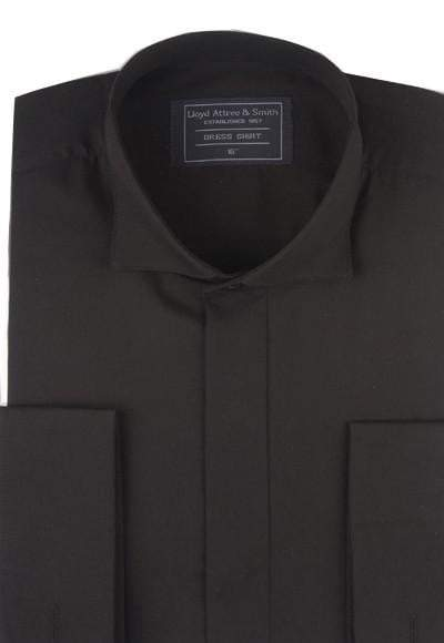 Victorian Wing Collar Dress Shirt - Black