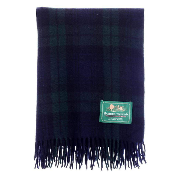 Wool Tartan Knee Rug - Black Watch