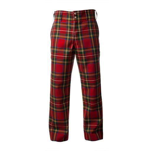 Men's Polyviscose Tartan Trews - Royal Stewart Modern