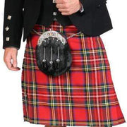 Men's Kilt, 8 Yard Mediumweight, Lochcarron Braeriach, Traditionally Hand Stitched