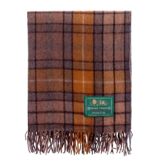 Wool Tartan Knee Rug - Natural Buchanan