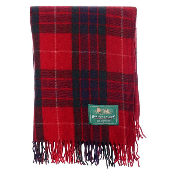 Wool Tartan Knee Rug - Fraser Red
