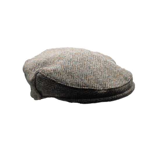 Harris Tweed 100% Wool Cap - Green