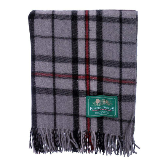 Wool Tartan Rug - Thomson Grey