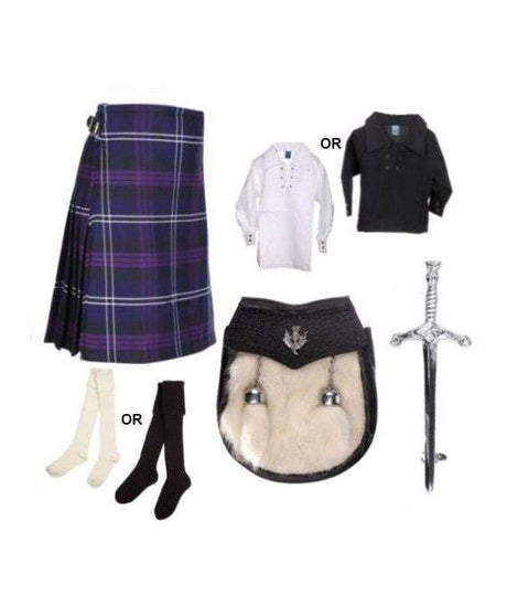 Childrens 5 Piece Kilt Outfit - 4 Tartans
