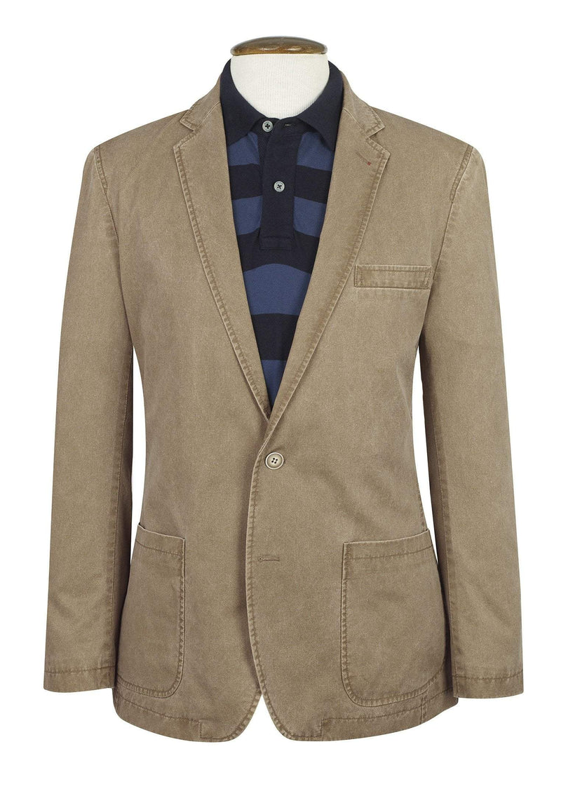 Euston Tailored Fit Semi-Structured Caramel Jacket by Brook Taverner