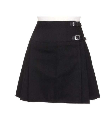 Ladies Acryllic Wool Billie Kilt - Black