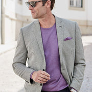 Chandler Tailored Fit Charcoal Stripe Jacket by Brook Taverner