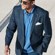 Ballard Classic Fit Denim Stripe Jacket by Brook Taverner