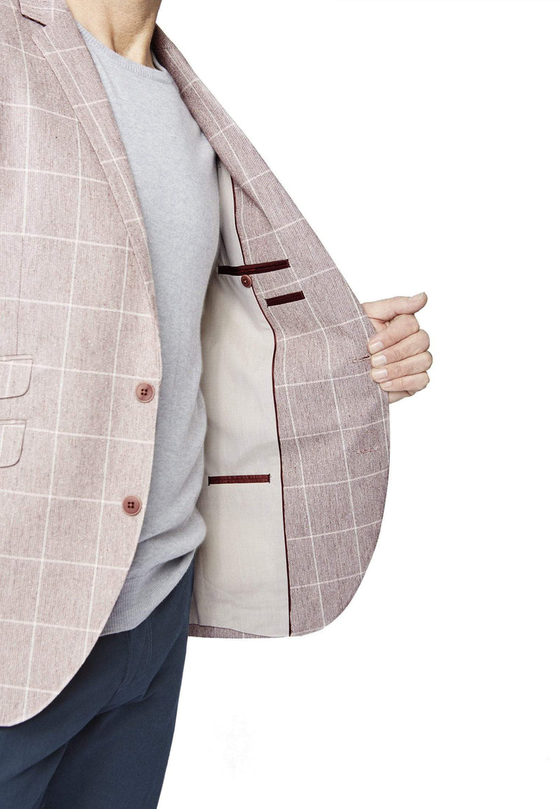 Beeching Tailored Fit Rose Check Jacket by Brook Taverner