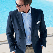 Mayhew Double Breasted Fashion Fit Navy Jacket by Brook Taverner