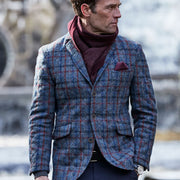 Mens Genuine Harris Tweed Quilted Jacket - Traigh