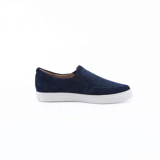 Ladies Harris Tweed Trainers by Snow Paw - Navy