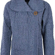 Ladies Merino Wool One Button Cardigan by Aran Mills - 9 Colours