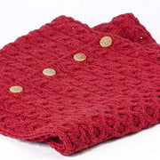 Ladies Merino Wool Buttoned Snood by Aran Mills - 12 Colours