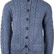 Ladies Merino Wool Classic Button Cardigan by Aran Mills - 4 Colours