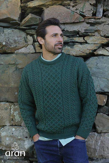 Mens Crew Neck Sweater by Aran Mills - 5 Colours
