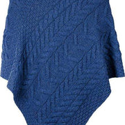 Ladies Supersoft Merino Wool Large Weave Poncho by Aran Mills - 9 Colours
