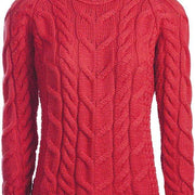 Ladies Plaid Weave Crew Neck Sweater by Aran Mills - 5 Colours