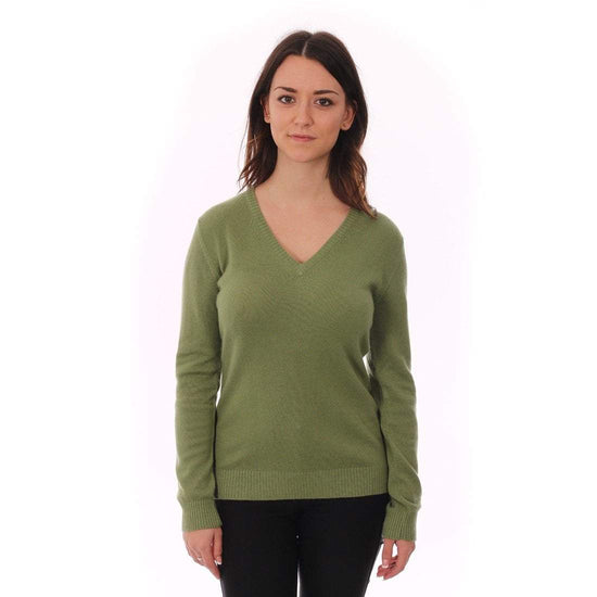 Purple Loch Ladies Cashmere Jumper - V-Neck - 4 Colours