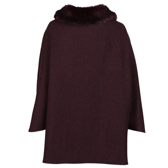 Ladies Harris Tweed Cape - Red
