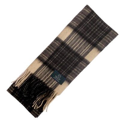 Clan Tartan Scarf - Stewart Grey Dress