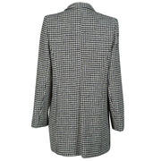 Ladies Single Breasted Harris Tweed Coat - Black/White Dogtooth