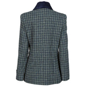 Ladies Harris Tweed Jacket - Grey/Blue Check