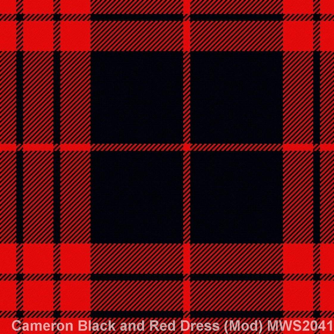 Cameron Black and Red Dress Modern