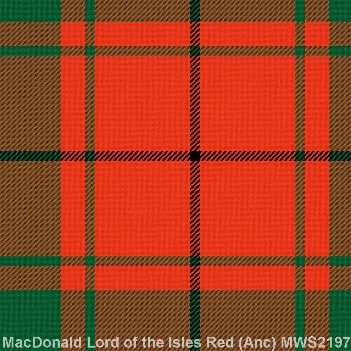 MacDonald Lord of the Isles Red Ancient