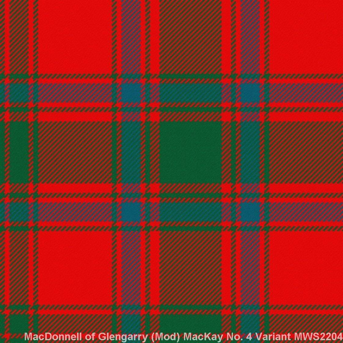 MacDonnel of Glengarry Modern – MacKay No4 Variant