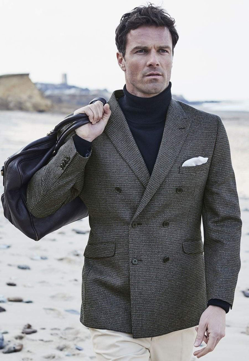 Adur Double Breasted Tailored Fit Jacket by Brook Taverner